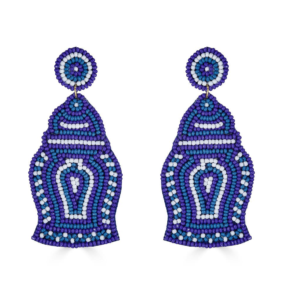Blue Ginger Jar Earrings by LISI LERCH