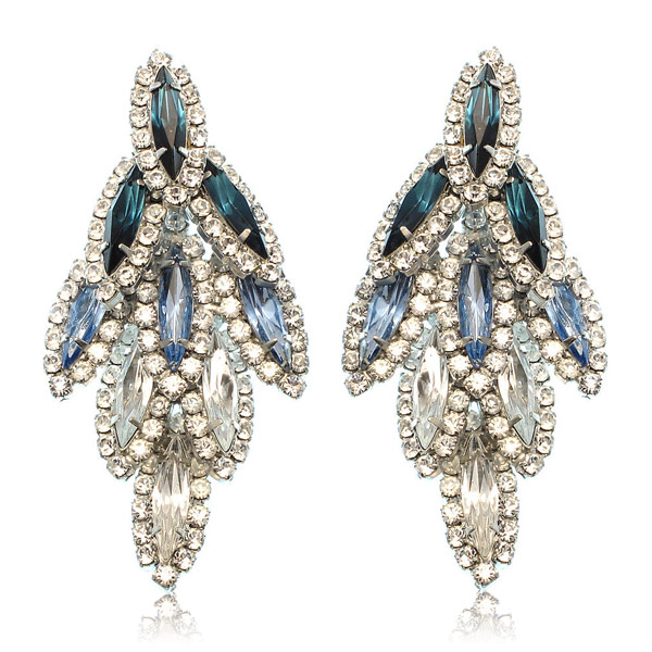 Blue Ombre Bacall Earrings by ELIZABETH COLE