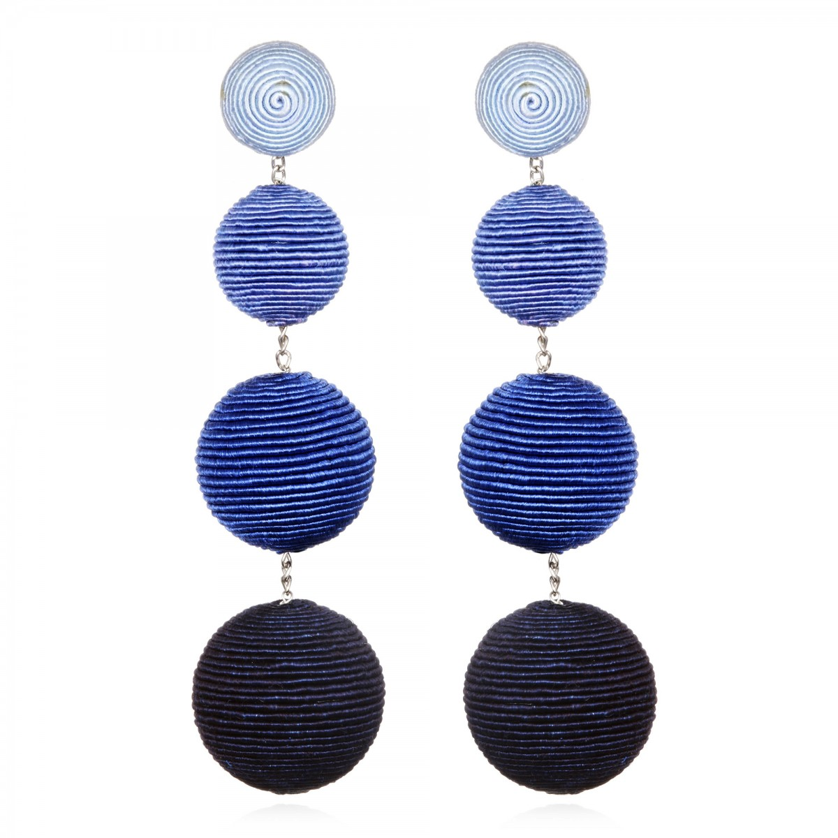 Blue Ombre Bon Bon Earrings by SUZANNA DAI