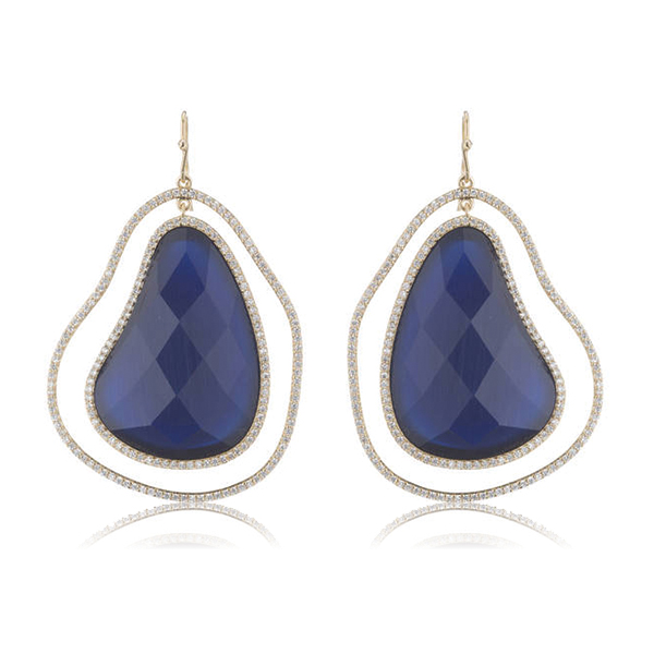 Blue Organic Earrings by Marcia Moran