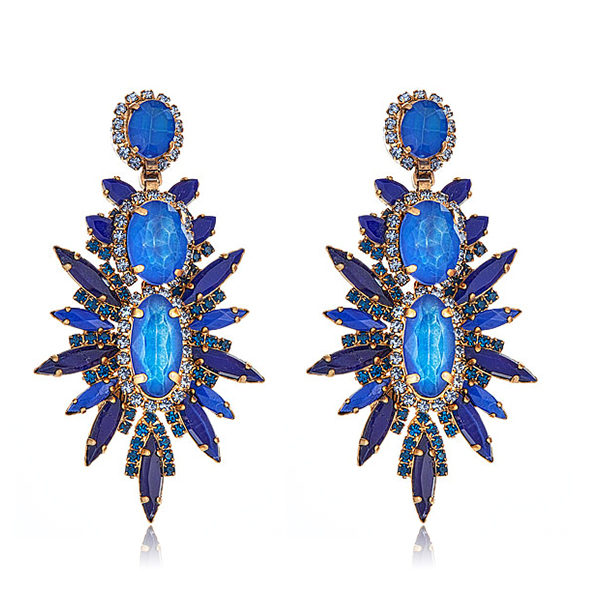 Blueberry Carmella Earrings by ELIZABETH COLE