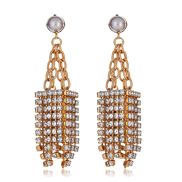Crystal Deco Fringe Earrings by ELIZABETH COLE