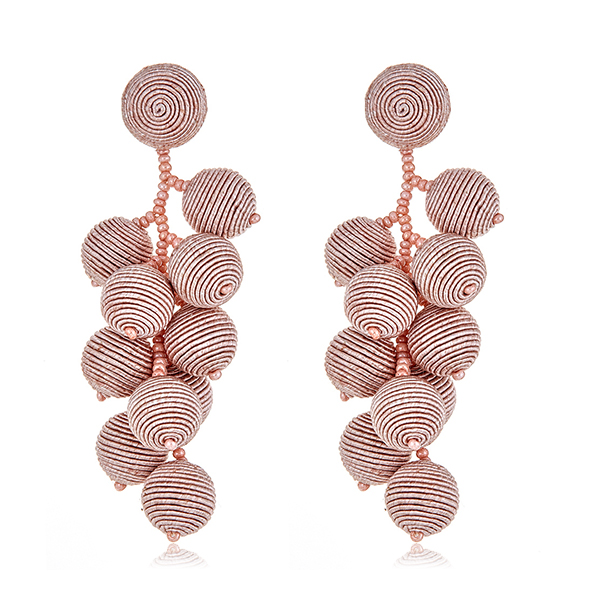 Blush Gumball Cluster Earrings by SUZANNA DAI