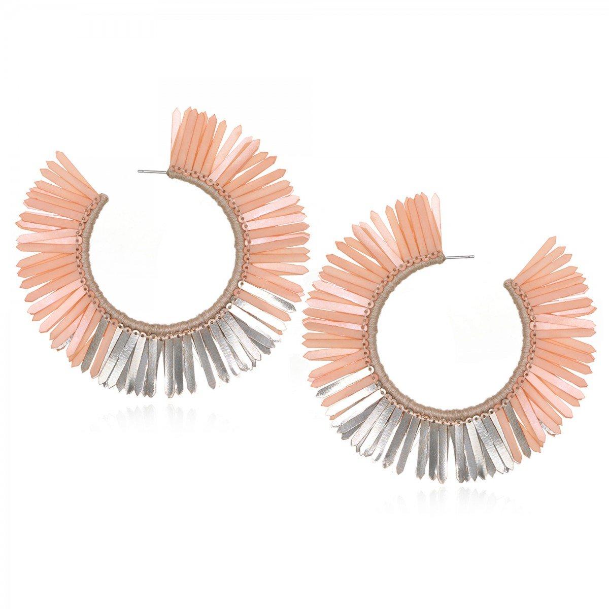 Blush Karaja Hoop Earrings by SUZANNA DAI
