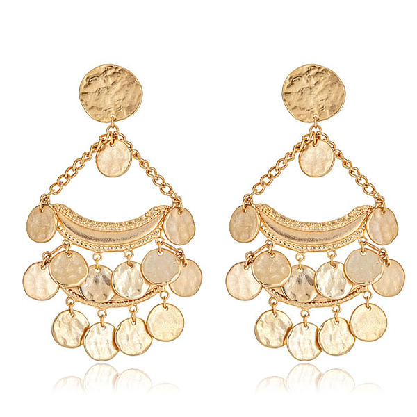 Boho Gold Coin Earrings by KENNETH JAY LANE