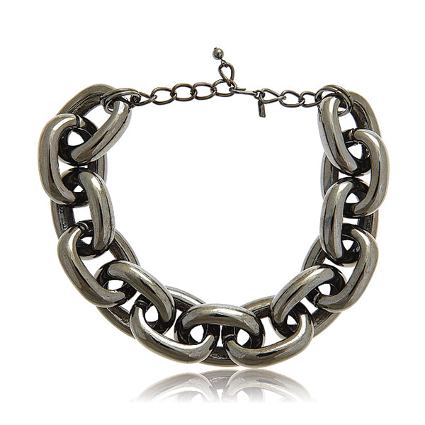 Bold Gunmetal Link Necklace by Kenneth Jay Lane