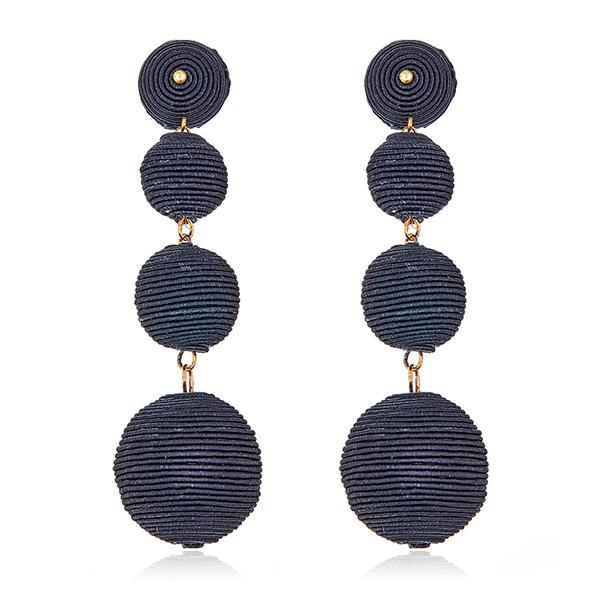 Black Bon Bon Gumball Earrings by KENNETH JAY LANE