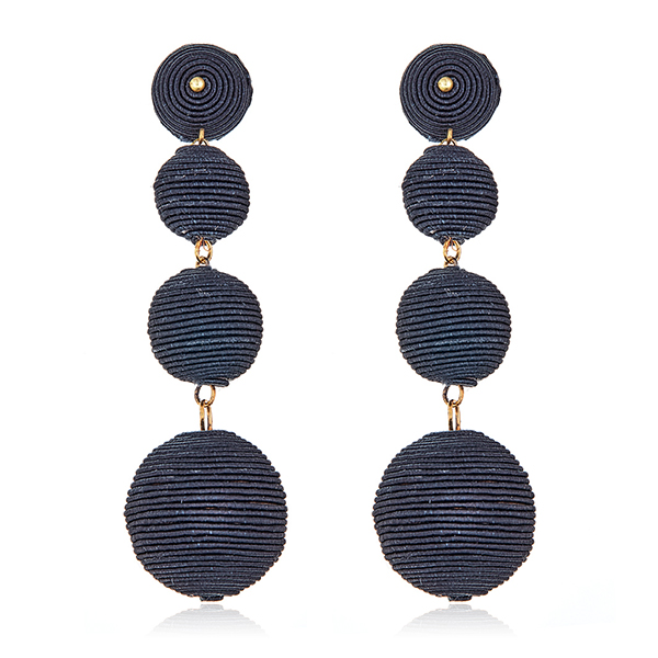 Black Bon Bon Gumball Earrings by KENNETH JAY LANE