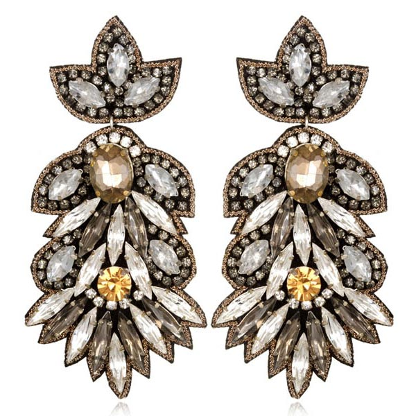 Borghese Large Drop Earrings by SUZANNA DAI