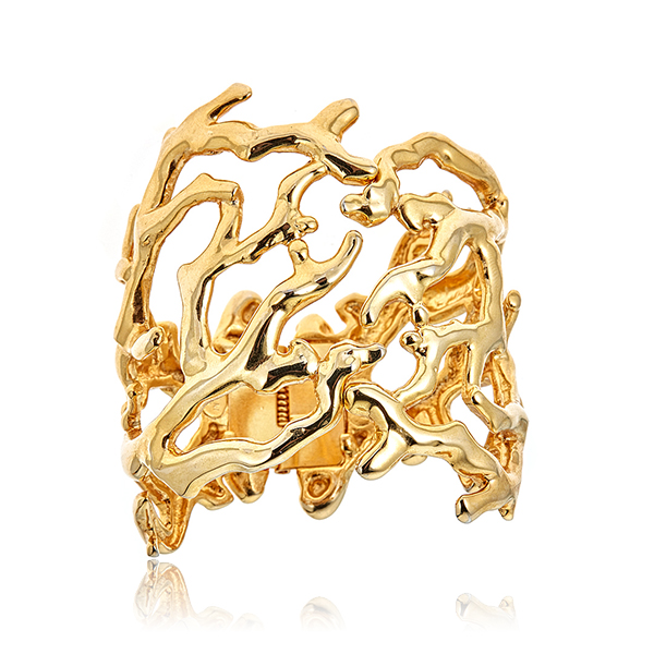 Gold Branch Cuff Bracelet by KENNETH JAY LANE