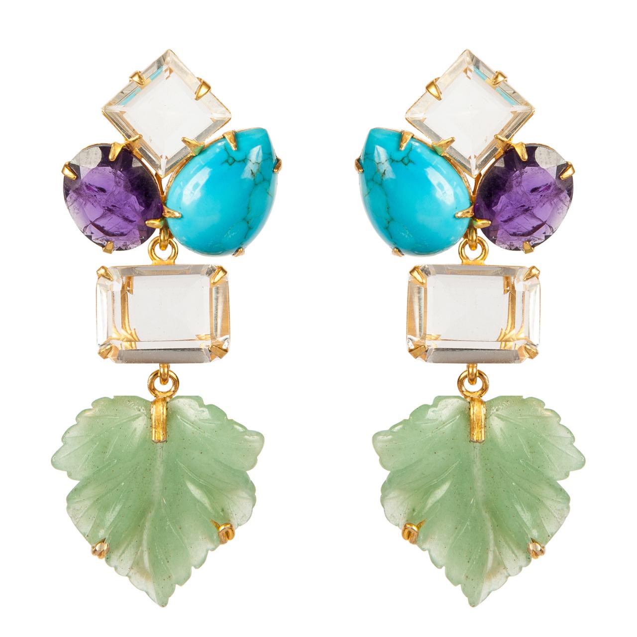 Bounkit Leaf Earrings by BOUNKIT
