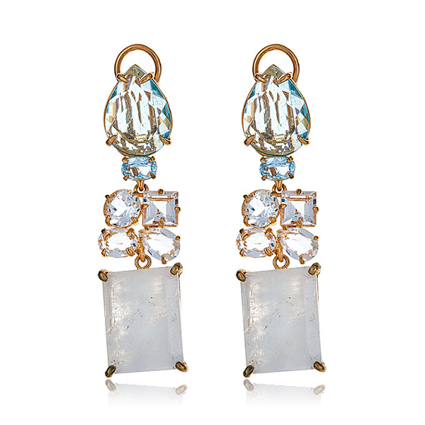 Bounkit Moonstone Earrings by BOUNKIT
