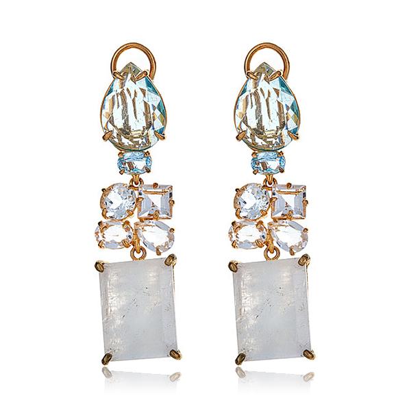 Bounkit Moonstone Earrings by BOUNKIT