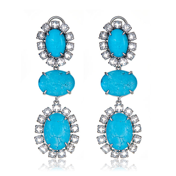 Bounkit Turquoise Drop Earrings by BOUNKIT