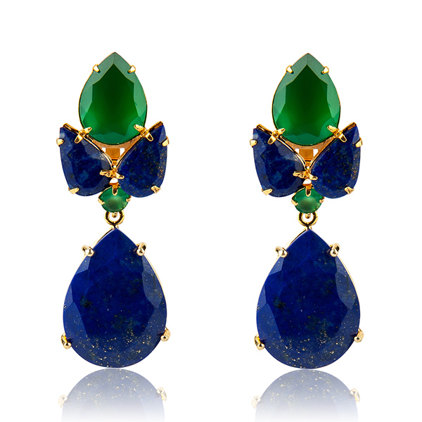 Bounkit Lapis Earrings by BOUNKIT