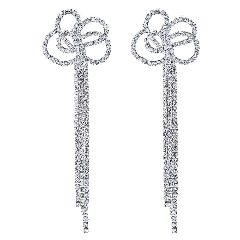 Bow Knotted Crystal Earrings by KENNETH JAY LANE