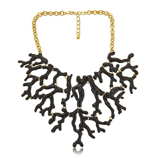 Black Branch Bib Necklace by KENNETH JAY LANE
