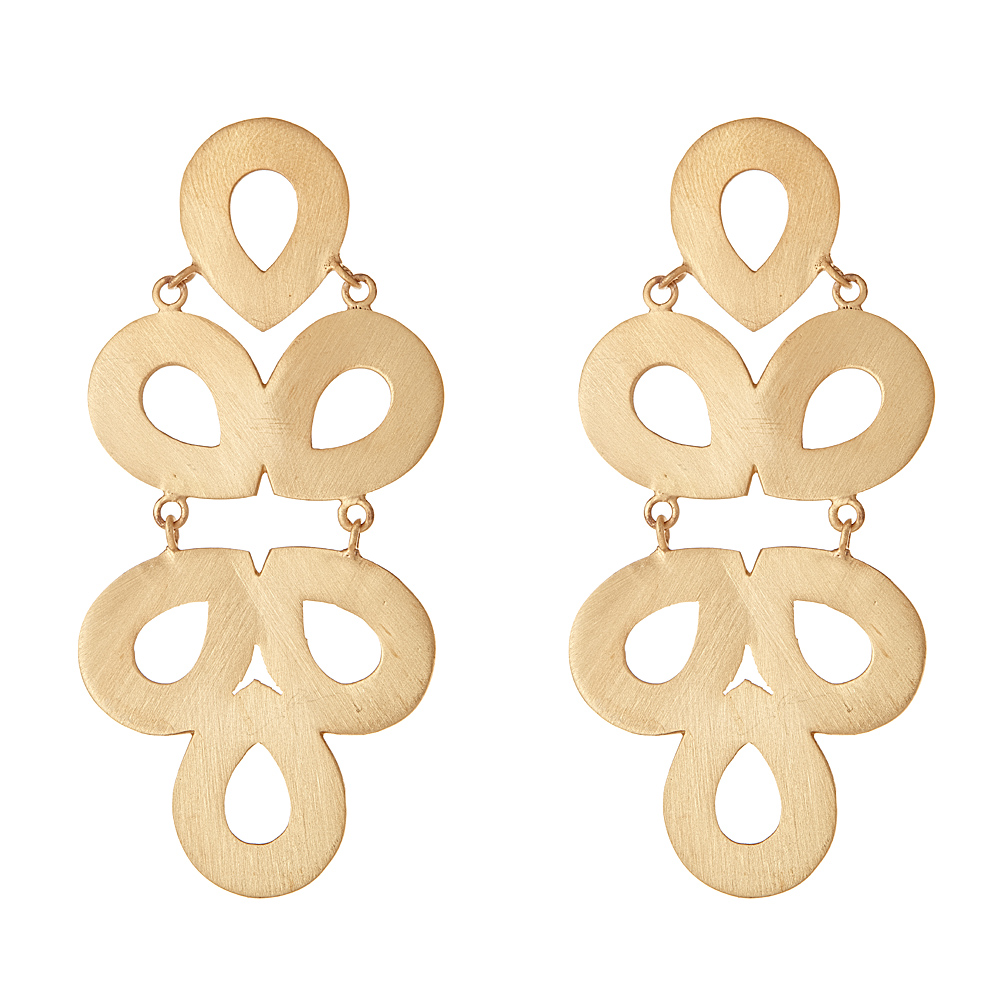 Brushed Ginger Gold Earrings by LISI LERCH