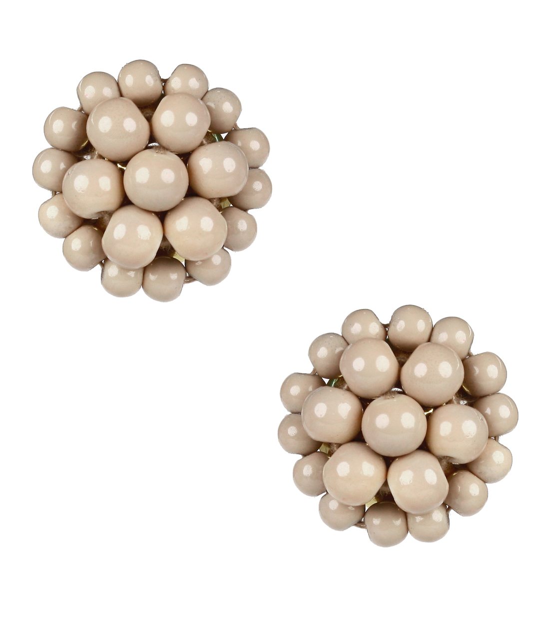 Button Latte Earrings