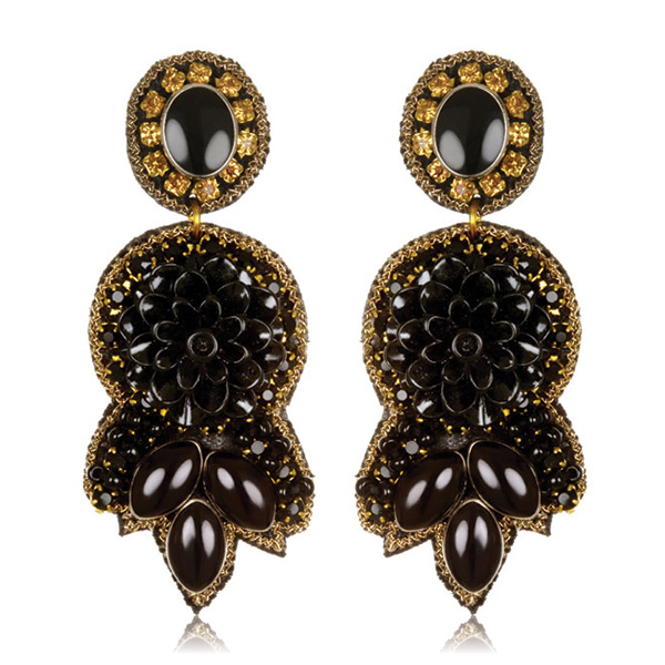 Byzantium Small Drop Earrings by SUZANNA DAI