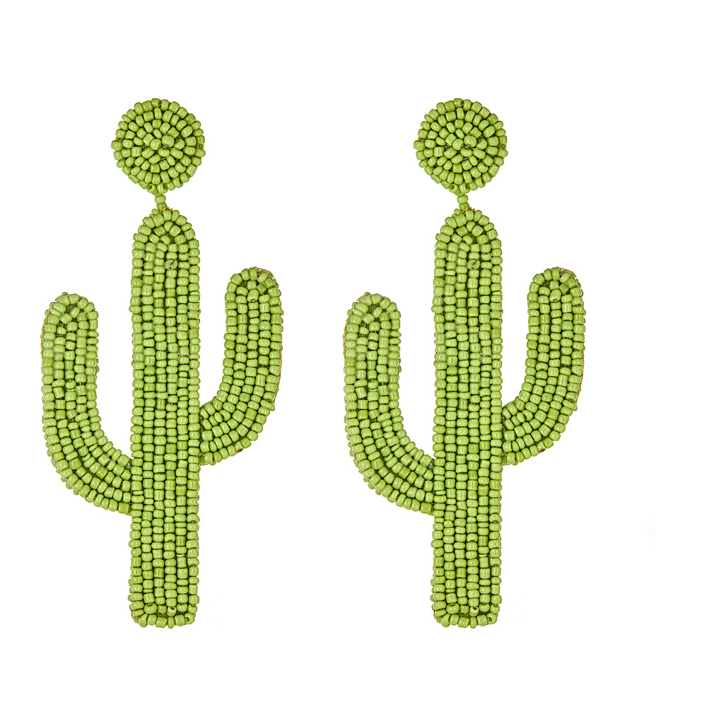 Cactus Beaded Earrings by KENNETH JAY LANE