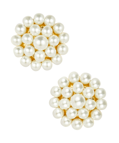 Cameran Pearl Button Earrings by LISI LERCH