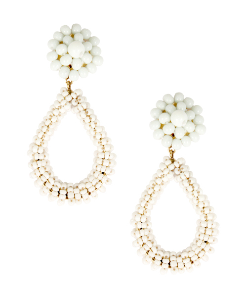 Cameran White Kate Earrings by LISI LERCH