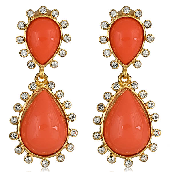 Capri Coral Earrings by KENNETH JAY LANE