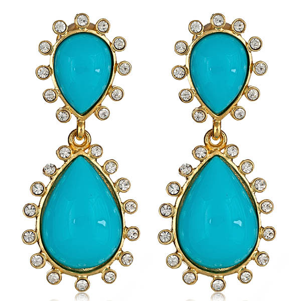 Capri Turquoise Earrings by KENNETH JAY LANE