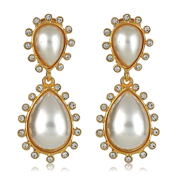 Capri Pearl Earrings by KENNETH JAY LANE