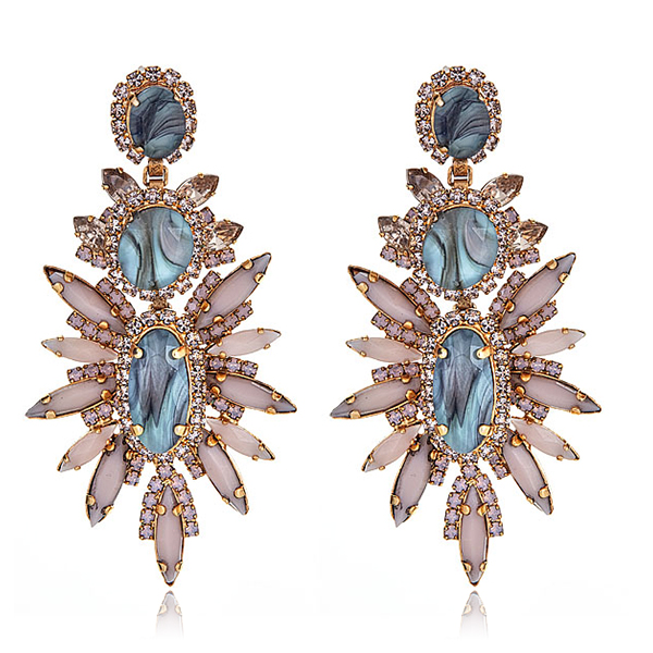 Blush Statement Earrings by ELIZABETH COLE