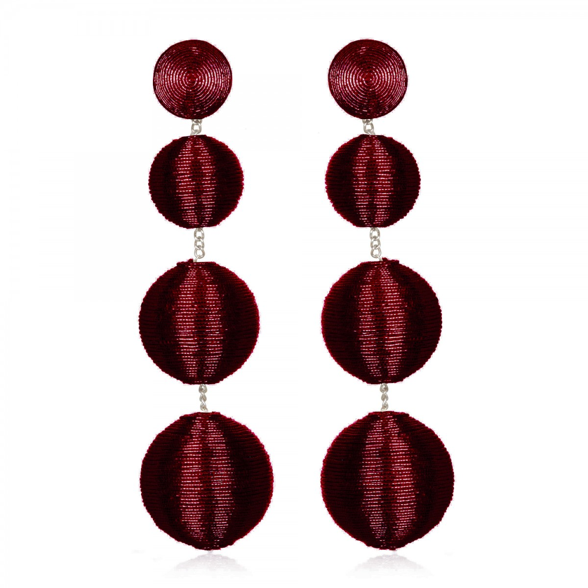 Metalllic Wine Gumball Earrings by SUZANNA DAI