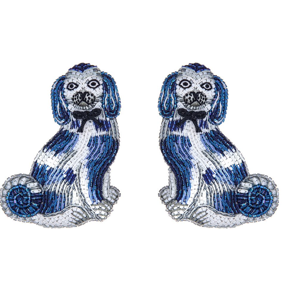 Carole Blue Spaniel Earrings by FRENCH AND FORD
