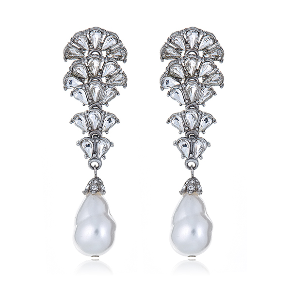 Cascading Crystal Earrings by BEN-AMUN