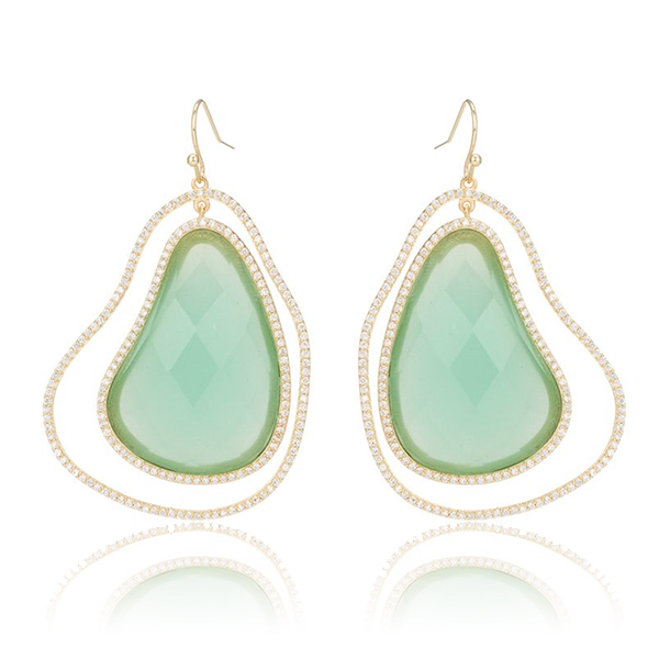 Chalcedony Organic Earrings by MARCIA MORAN