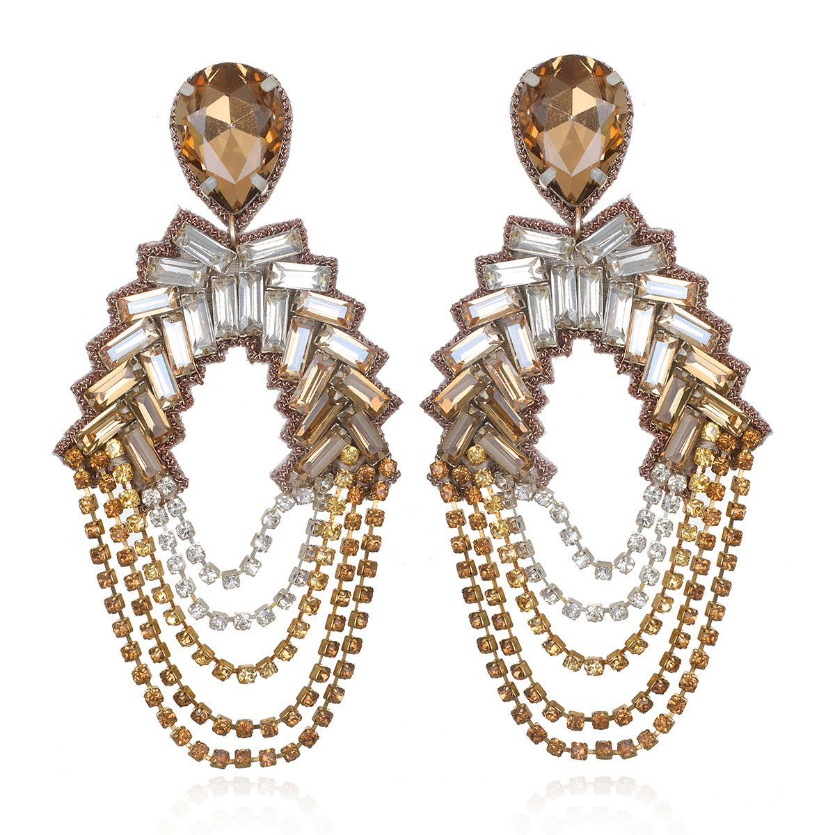 Champagne Chandelier Earrings  by SUZANNA DAI