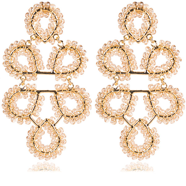 Ginger Champagne Earrings by LISI LERCH
