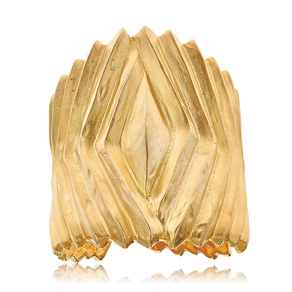 Chevron Gold Cuff by KENENTH JAY LANE