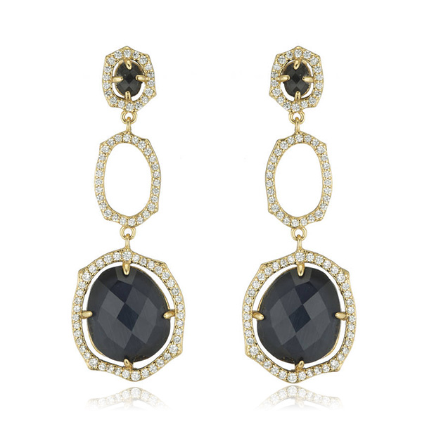 Oval Drop Earrings by MARCIA MORAN