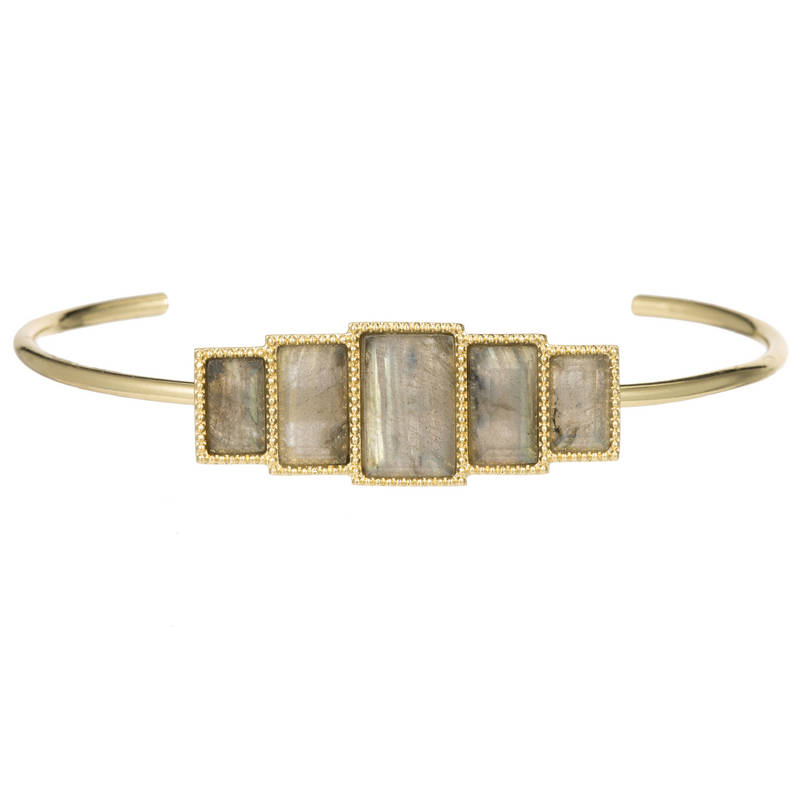 Rectangle Labradorite Bangle by MARCIA MORAN