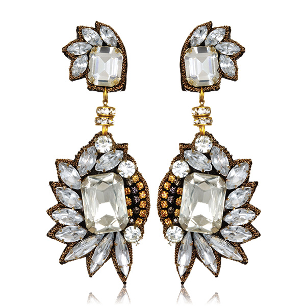 Chrysler Fan Drop Earrings by SUZANNA DAI