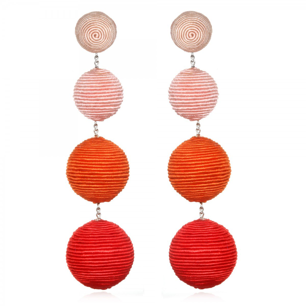 Coral Ombre Gumball Earrings by SUZANNA DAI
