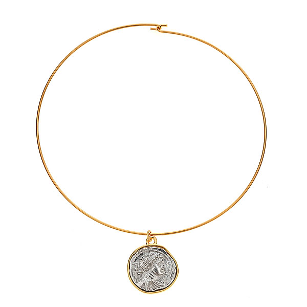 Coin Choker Necklace by KENNETH JAY LANE