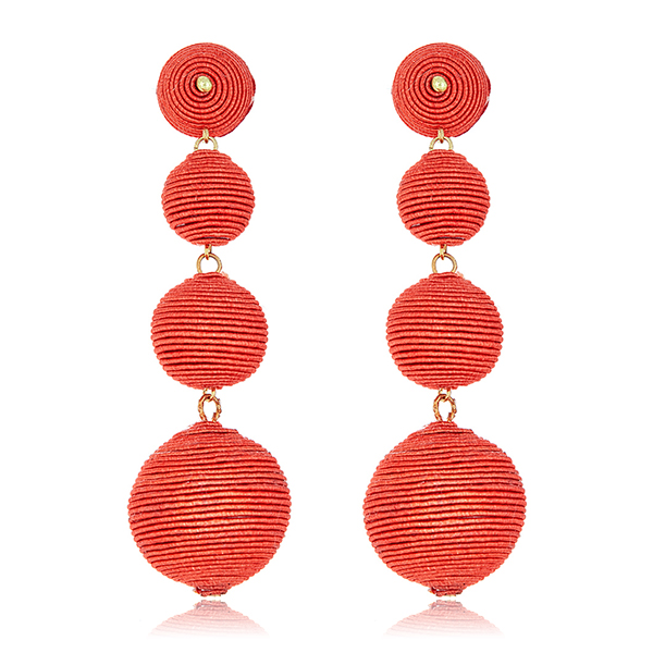 Coral Bon Bon Gumball Earrings by KENNETH JAY LANE
