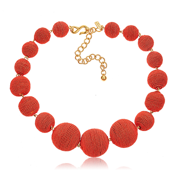Coral Bon Bon Necklace by KENNETH JAY LANE