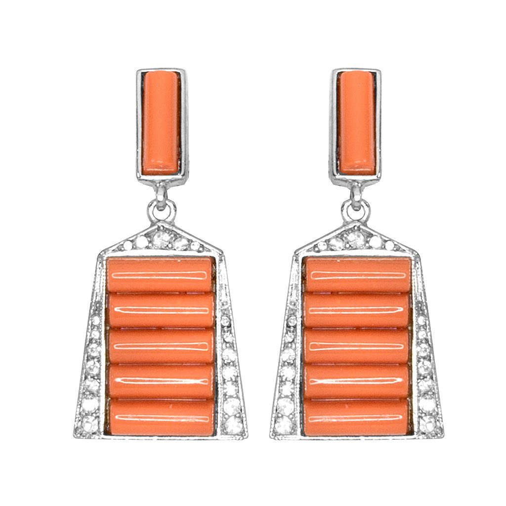 Coral Deco Earrings by KENNETH JAY LANE