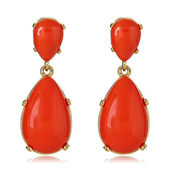 Coral Cab Earrings by KENNETH JAY LANE