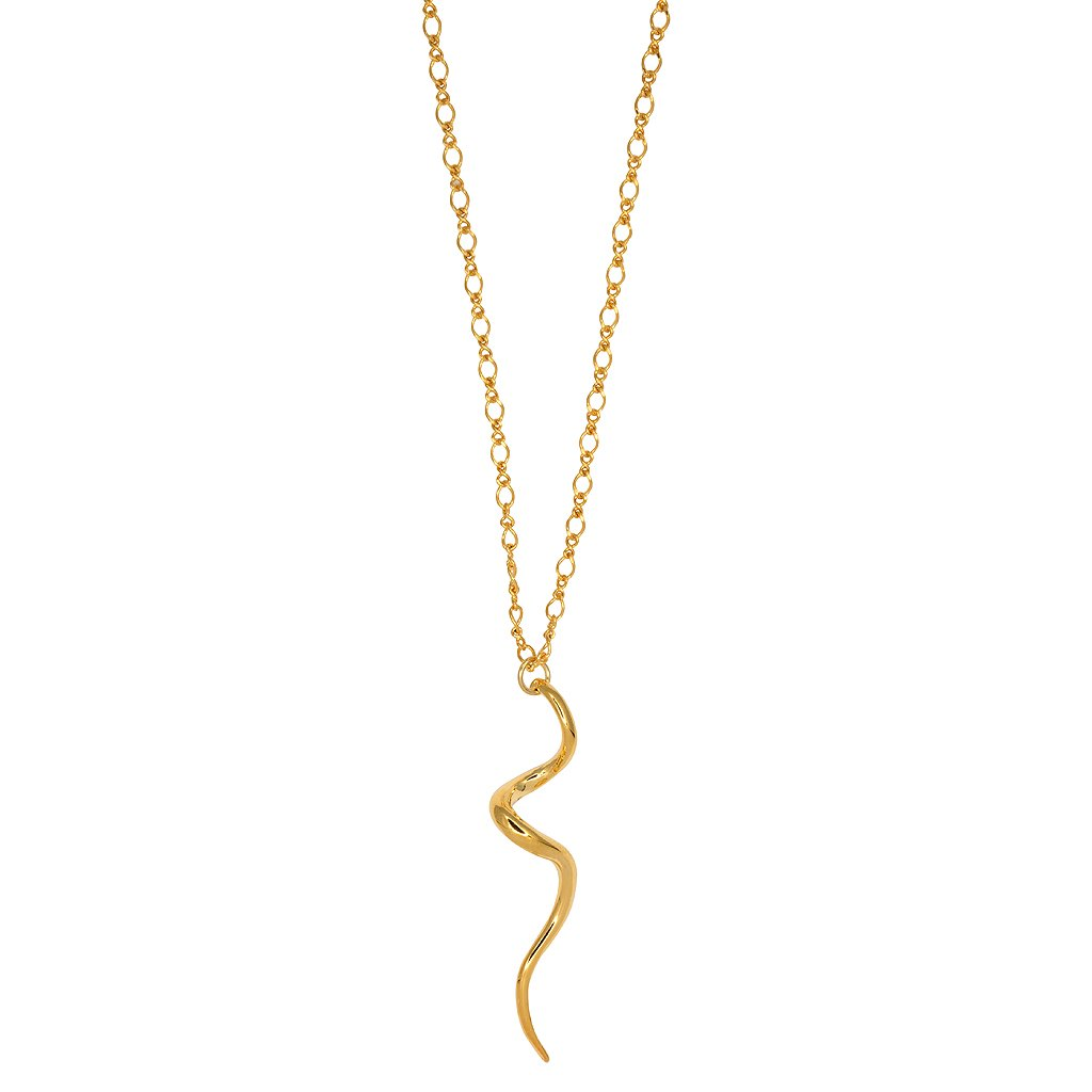 Gold Swirl Snake Necklace by KENNETH JAY LANE