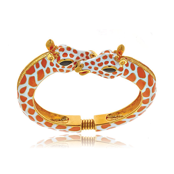 Coral Giraffe Bracelet by Kenneth Jay Lane