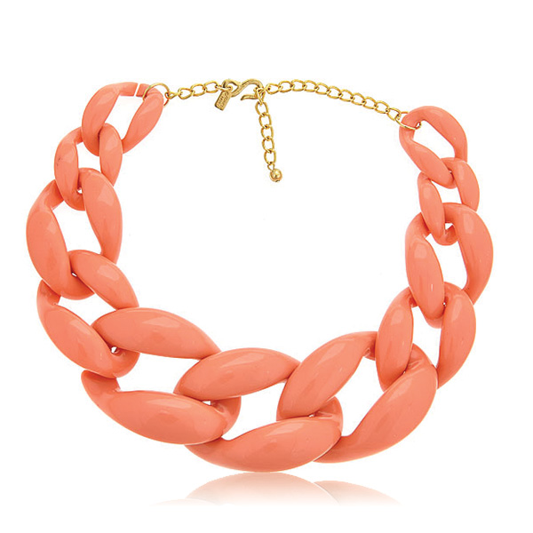 Coral Link Necklace by KENNETH JAY LANE